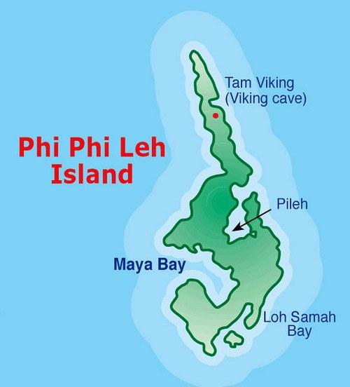 Phi-Phi-Lee-mapa