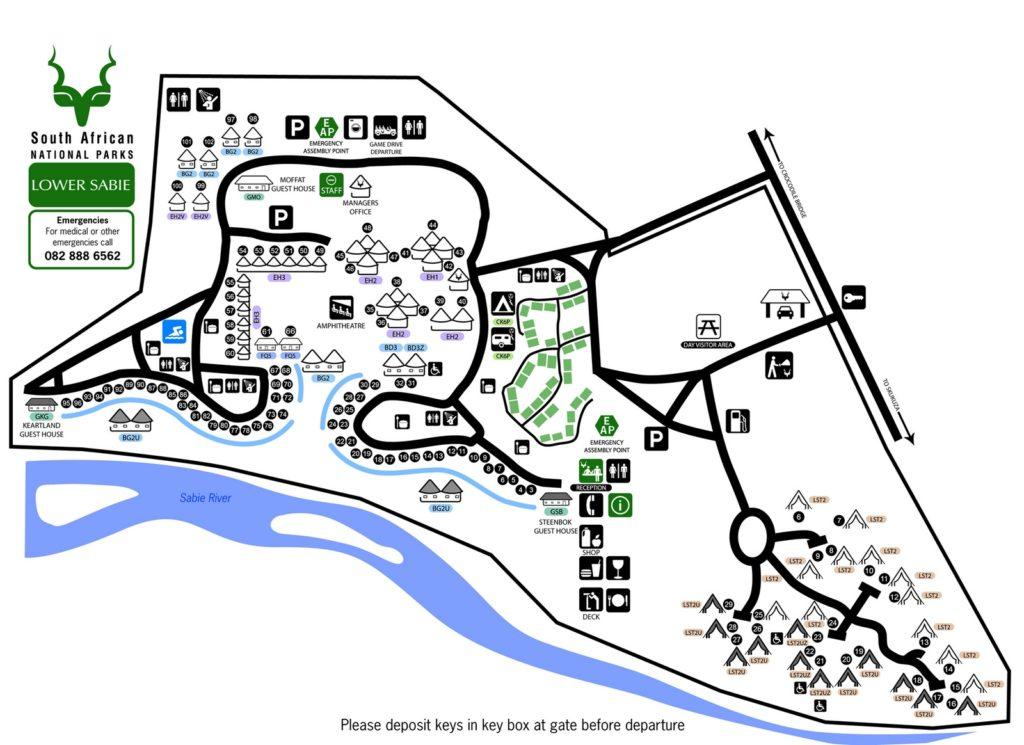 lower sabie map