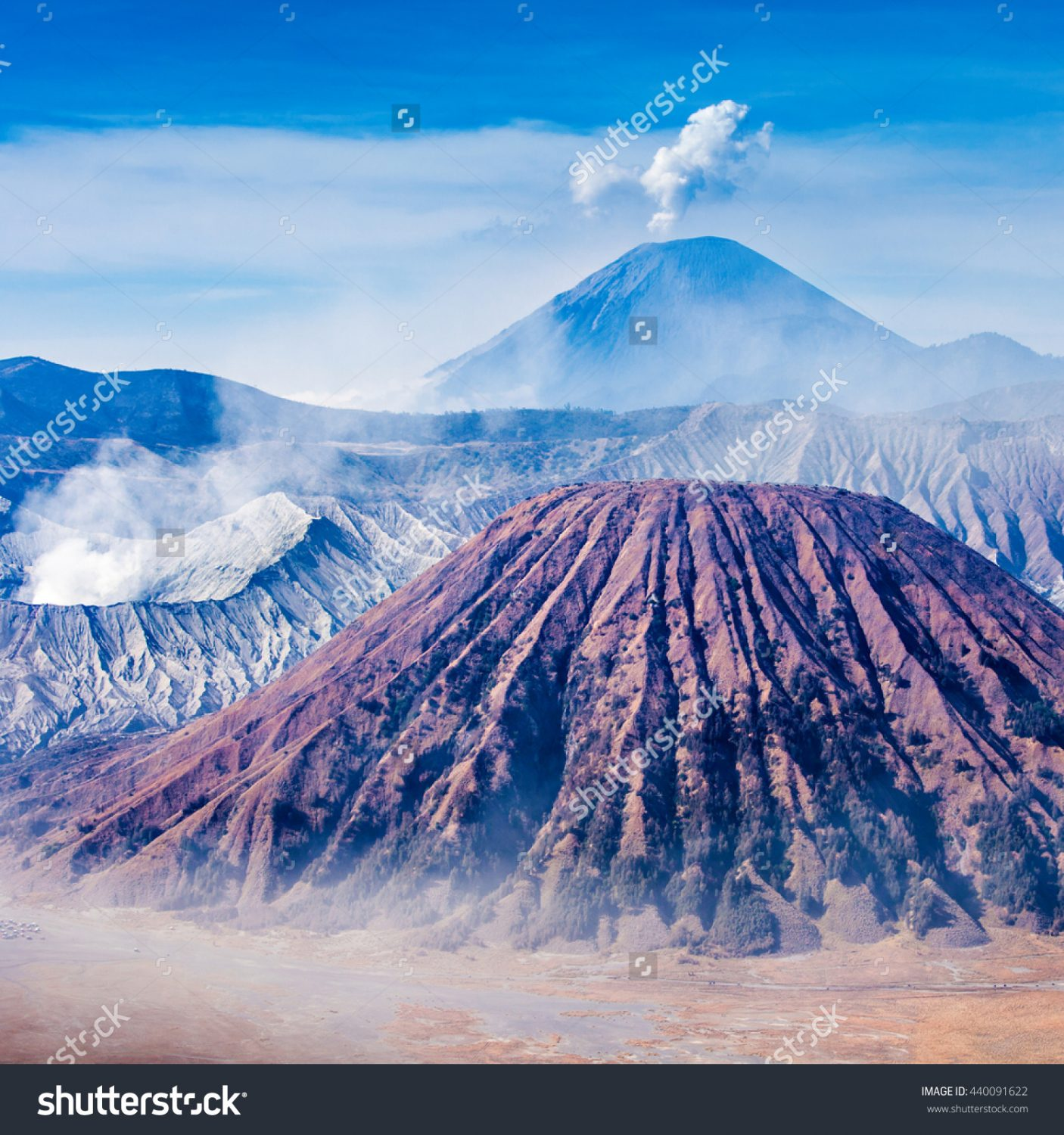 stock-photo-bromo-batok-and-semeru-volcanoes-java-island-indonesia-440091622