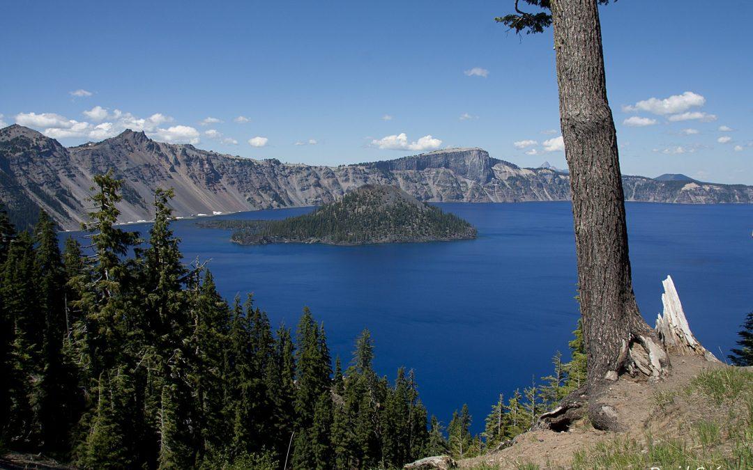 El intenso azul del Crater Lake National Park