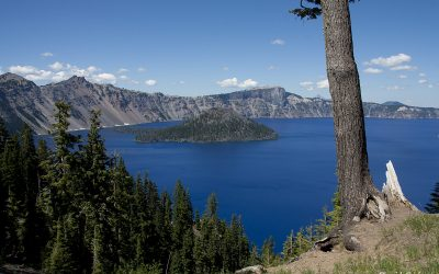 El intenso azul del Crater Lake National Park